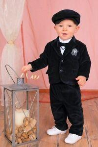 Amical Abito Vestito Da Battesimo Maschietto Velluto Blu Costine Da Cerimonia Cod 1125