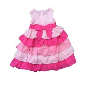 Brand-NEW-Little-Girls-Pink-Ruffle-Dress-w-Bow-by-Gymboree-Choose-Size