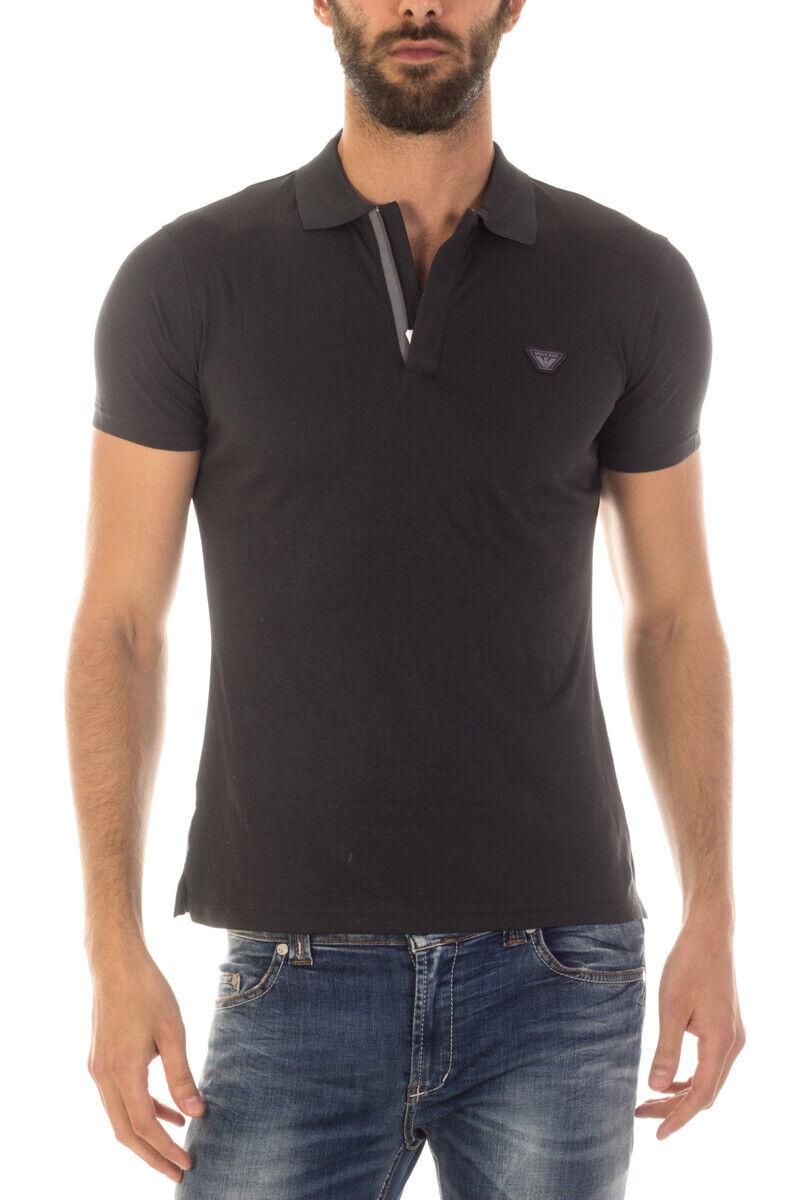 Armani Jeans AJ Polo hemd baumwolle Man grau 6X6F186JPRZ 1990 Sz XS MAKE OFFER