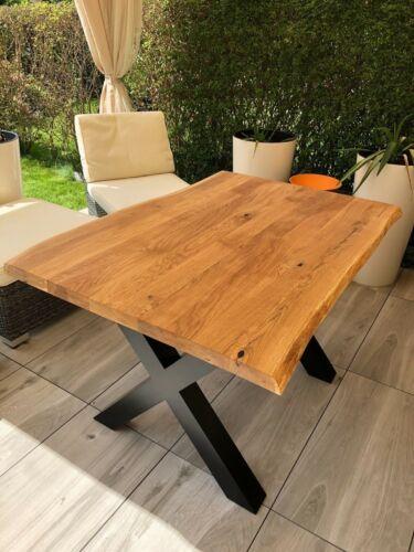Massivholz Esstisch Tisch Eiche, 120 x 80 cm