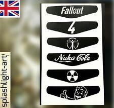 FALLOUT 4 PS4 Controller Light Bar, 6x Vinyl Sticker Decal Nuka Cola Vault Boy