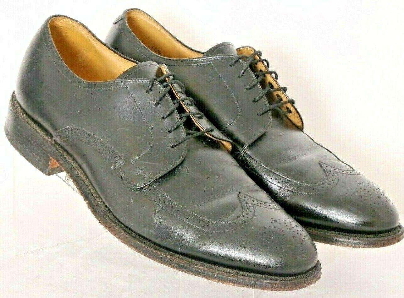 Johnston & Murphy 24-8585 Black Brogue Wingtip Dress shoes Oxfords Men's 10.5D