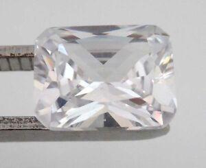 5-52-CT-AAA-Natural-White-Zircon-Diamonds-Emerald-Cut-10X8MM-VVS-Loose-Gemstone