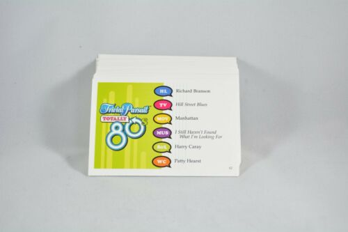 qty 100 cards Trivial Pursuit Totally 80/'s replacement game pieces