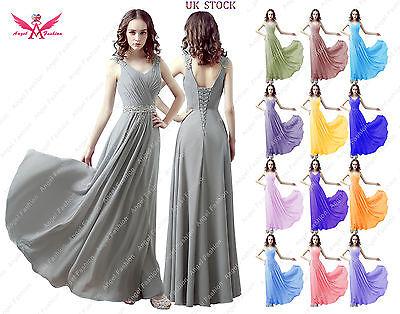 Chiffon Long Shoulder Straps V-neck A-line Lace Back Wedding Bridesmaid Dresses Ausreichende Versorgung