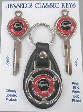 Red Chevy IMPALA C/D Deluxe Classic White Gold Keys Set 1968 1972 1976 1980