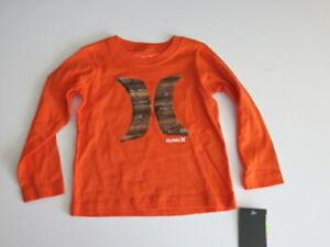 New Hurley short sleeve T shirt boys teal turquoise blue orange island 2T 3T