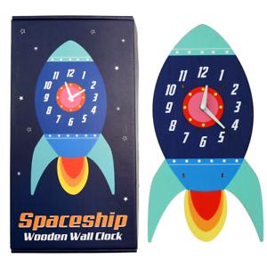 Rex London SPACESHIP WOODEN CLOCK