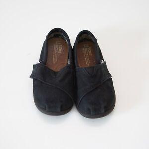 d182d6ce7fb Toms Toddler Boy Girl Unisex Black Classic Tiny Slip-on Velcro Shoes ...