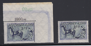 Germany-Sc-196-196b-MNH-1922-20m-Plowing-normal-amp-inverted-background-fresh