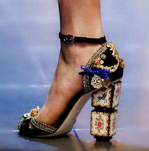 Hauts Chaussures Perle Partie Toe Chic À Ouvert Chunky Femmes Sandales Piste Talons Strass On0wkP
