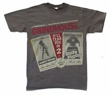 GRINDHOUSE DRIVE IN DEATH PROOF PLANET TERROR GREY T-SHIRT MEDIUM NEW MOVIE