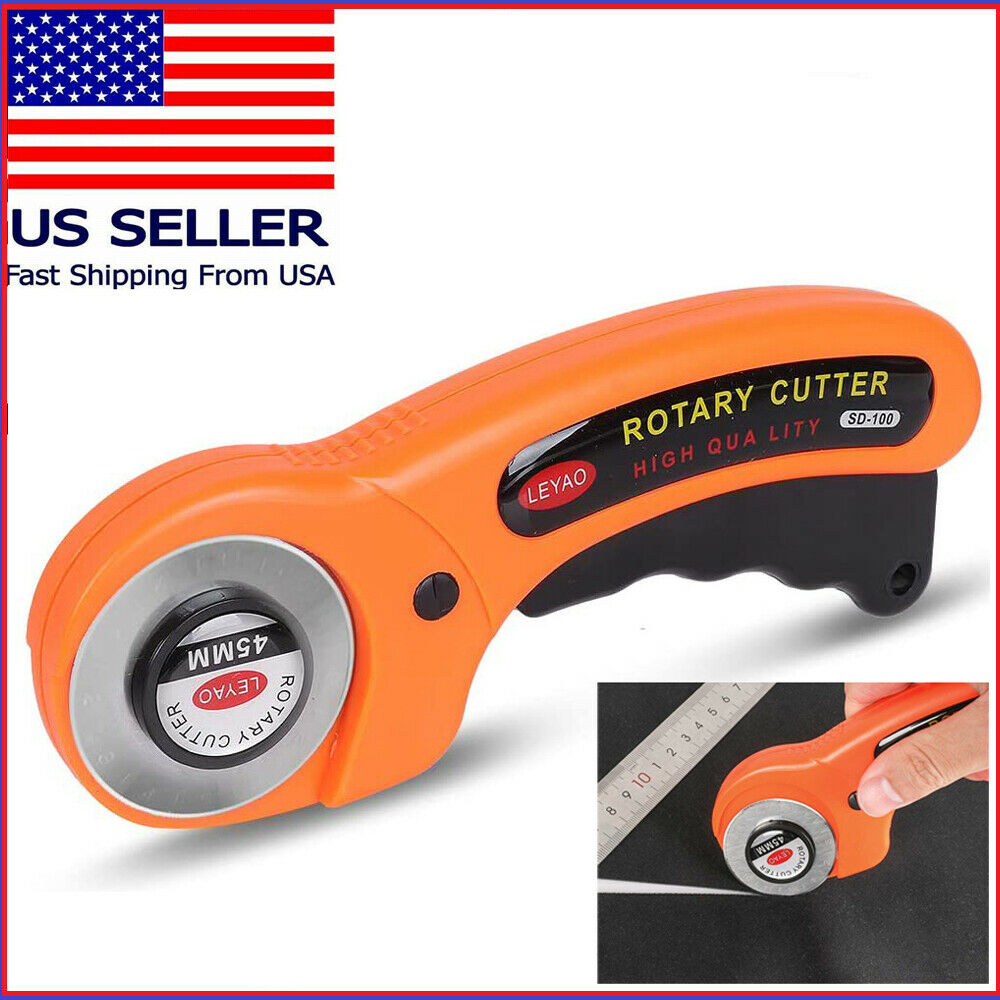 45mm Round Rotary Cutter Sewing Quilting Roller Fabric Leather Cutting Tool