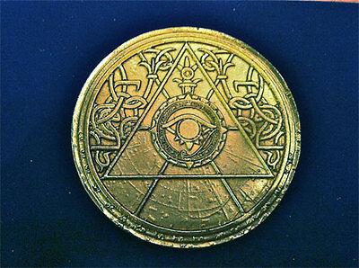 Tomb Raider, Lara Croft, Medallion Of Light Disc, Solid Metal, Very Detailed