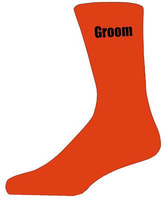 2019 Neuer Stil Orange Luxury Cotton Rich Wedding Socks With Black Text,groom, Best Man, Usher