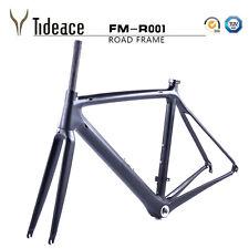 Carbon Road Racing Carbon Fiber Bike Frame with Fork, Headset, Clamp 53cm Matte