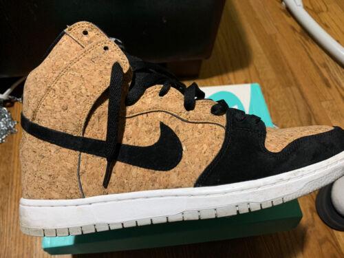 Nike Sb Dunk High Premium Cork Black/hazelnut Sz 1