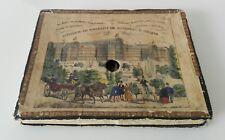 Paper Peepshow Diorama antique box book New Crystal Palace at Sydenham 19 thc