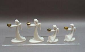 Rosenthal - 4 Leuchterengel - Porzellan - Tischschmuck - Engel Kerzenleuchter