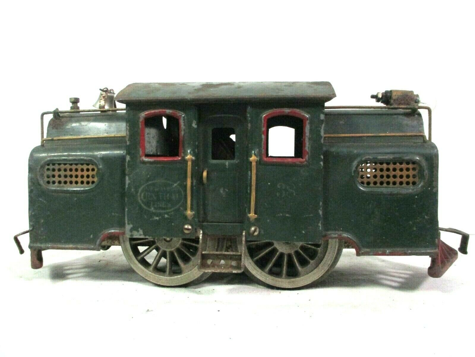 Lionel linien   217 dienstwagen rot standard gauge vintage - modelleisenbahn b36