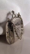 Vintage Sterling Silver Purse Pendant/Pill Box Locket. Purse Opens