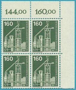 Berlin-1975-postfrisch-MiNr-505-Viererblock-Industrie-und-Technik