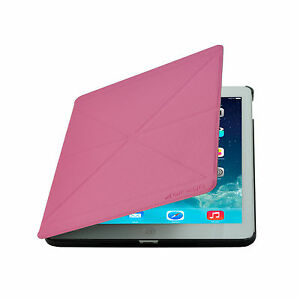 Cirago-Pink-iPad-Air-Slim-Fit-Origami-Case-with-Stand-iPad-Air-Case-2-pcs