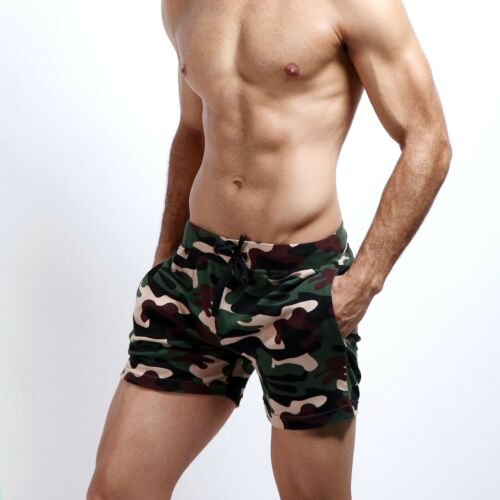 SEOBEAN Men/'s sports shorts casual summer beach Small cotton camouflage shorts