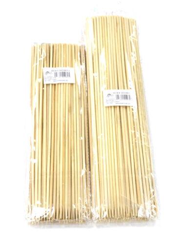"100 Bastoncini di Bambù Spiedini per barbecue frutta kebab fonduta 12/"" o 10/"" a lunga Stick"