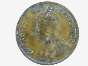 Moneda-South-Africa-1-Penny-1D-1935-British-Dominion-George-V-World-Coins