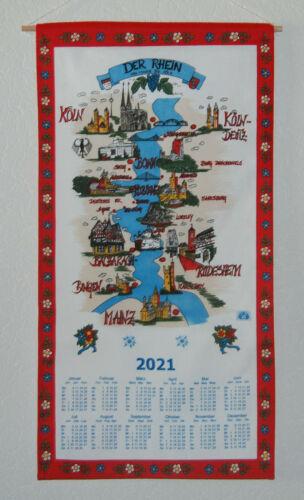 Stoffkalender Rheinlauf 2021 Stoffwandkalender Kalender Stoff 78ml MIT STAB
