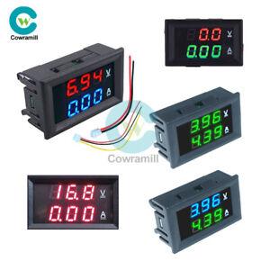 DC-0-100V-10A-Digital-Dual-LED-Display-Voltmeter-Ammeter-Voltage-AMP-Power