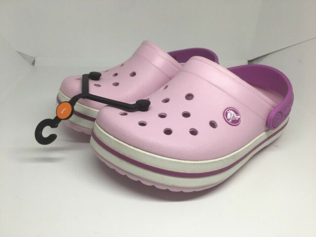 5063e00c3d603 Kids Crocband Ballerina Pink   Orchid Clogs Casual Summer Shoes Size J1 NWT  New!