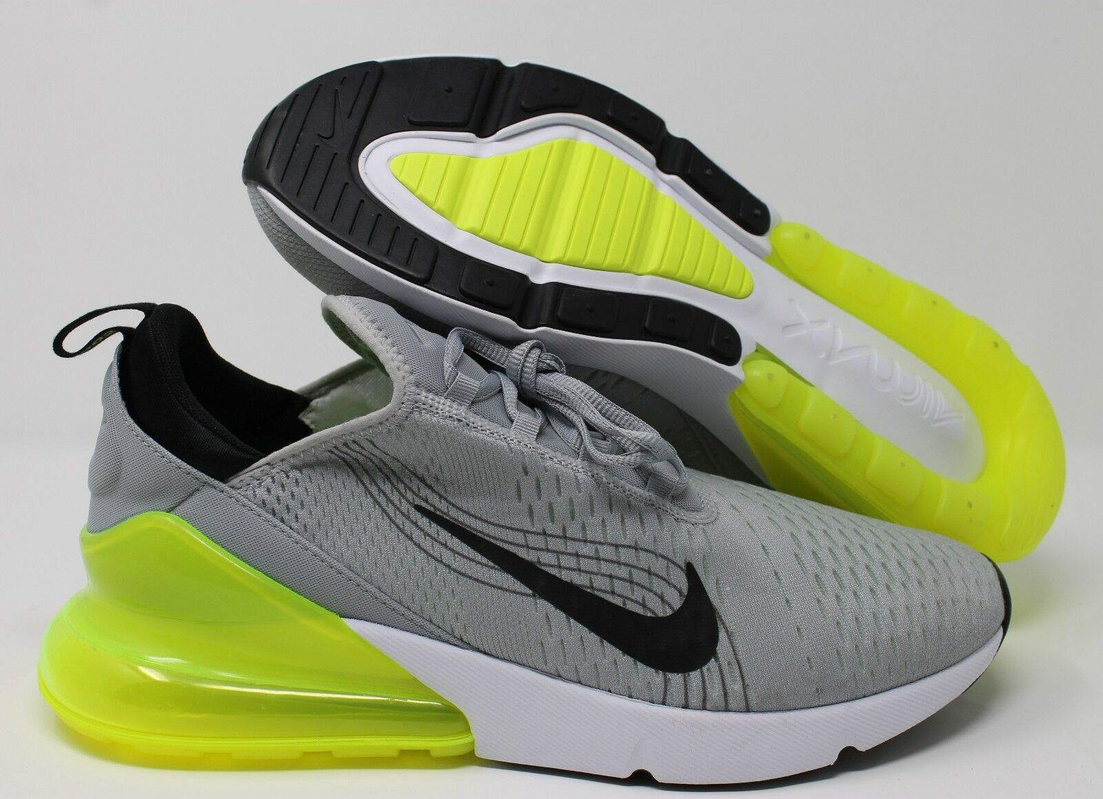 Nike iD Air Max 270 Grey-Black-Lime sz 13