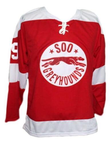 Custom Name # Soo Greyhounds Retro Hockey Jersey New Red Gretzky Any Size