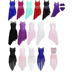 Kids Girls Latin Dancewear Beautiful Sleeveless Training Ballroom Dance Dress