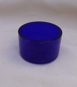 COBALT BLUE GLASS LINER INSERT Salt  Mustard  Pepper 40mm dia x 24mm tall - Leyton, London, United Kingdom - COBALT BLUE GLASS LINER INSERT Salt  Mustard  Pepper 40mm dia x 24mm tall - Leyton, London, United Kingdom