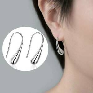 New-Women-Fashion-Jewelry-925-Sterling-Silver-Plated-Water-Drop-Hook-Earrings