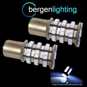 382-1156-BA15S-245-207-P21w-Xenon-Blanco-48-Led-SMD-bombillas-luz-ANTINIEBLAS