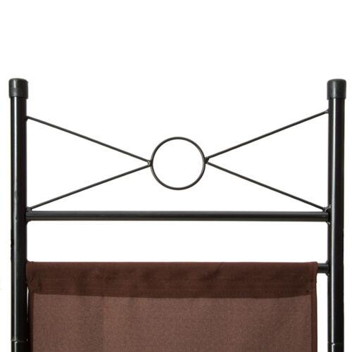 2x 4tlg Raumteiler Trennwand Paravent Umkleide Sichtschutz Spanische Wand Metall