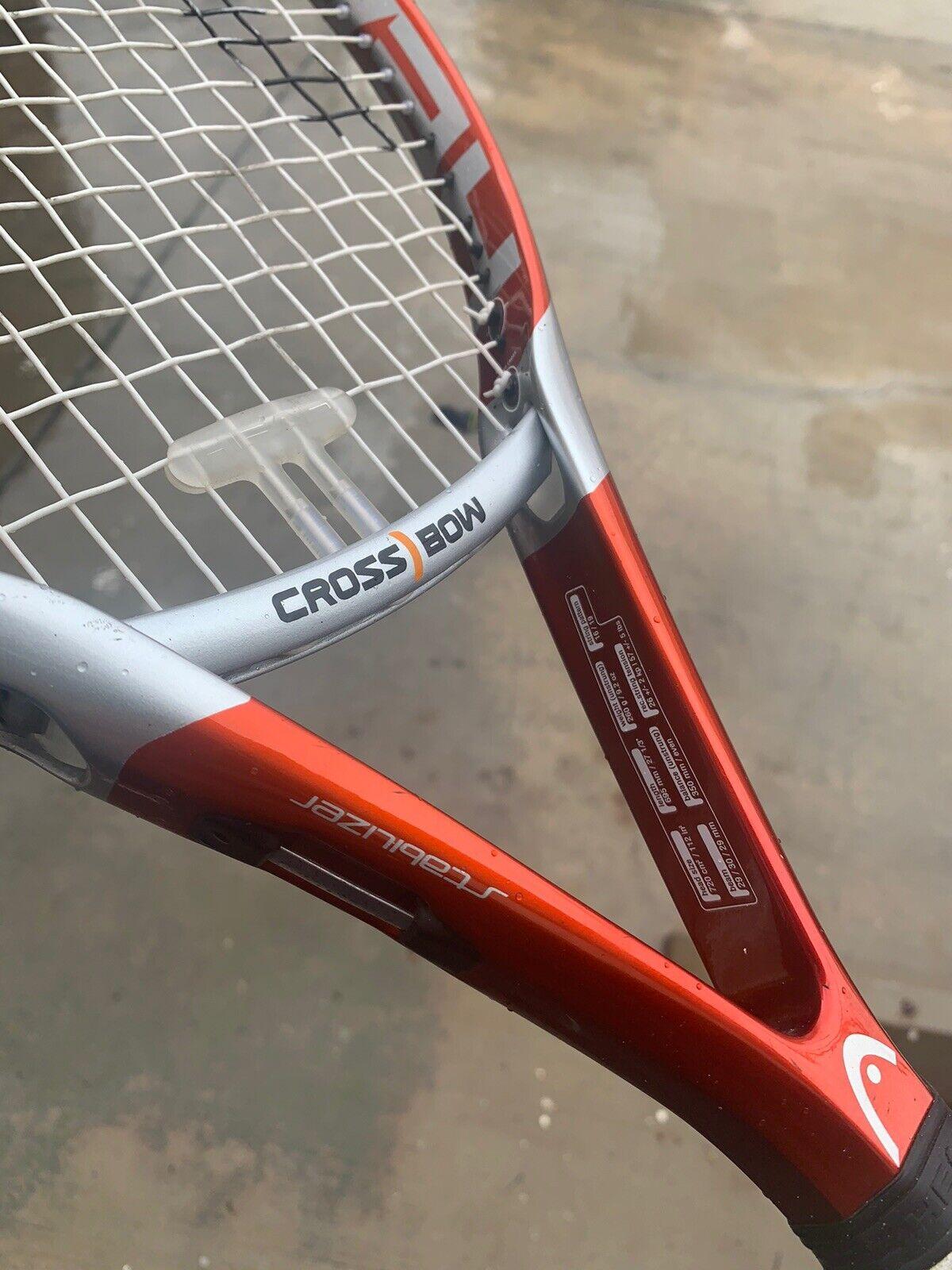 """HEAD Cross Bow 6 - 112 OS 4 1 2"""" Grip Tennis Racket Racquet Crossbow L4  4 +case"""