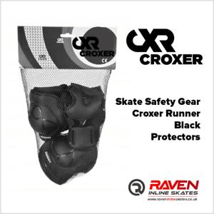 Roller Skate Safety Gear Protecteurs-croxer taille moyenne-Runner Noir Ou Vert Menthe