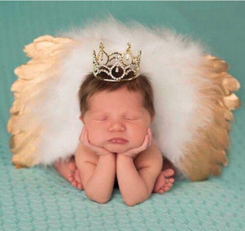 Flügel  Kleiner Engel 0-6 Monate gold Baby Fotoshooting Kostüm 2-tlg