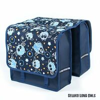 Beluko® Long Double Panniers Bag Fashion Bicycle Cycle Bike Women's - Mens Owls