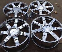 Set Of Four 22 Chrome Wheels Rims Fits Cadillac Escalade Ext Esv Brand