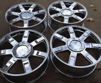 Set Of Four 22 Chrome Wheels Rims Fits Cadillac Escalade Ext Esv Brand