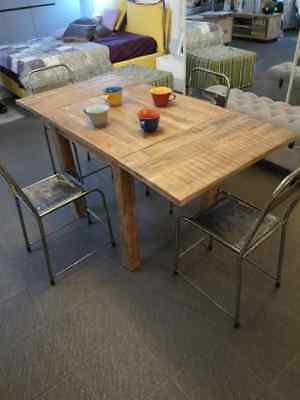 Tavolo Quadrato Allungabile Shabby Chic.Tavolo Quadrato Allungabile Design Vintage Industriale Shabby Chic