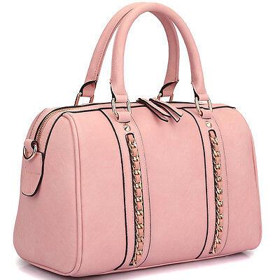 New Dasein Women Leather Satchel Handbag Purse Briefcase Hobo Tote Shoulder Bag