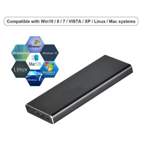 USB3.0 to NGFF M.2 B Key External SSD Converter Adapter Enclosure Case Box US