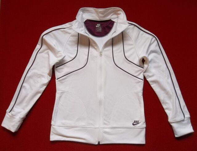 0712bafd74d Girls NIKE Jersey sz L zip front pkts track field shirt top